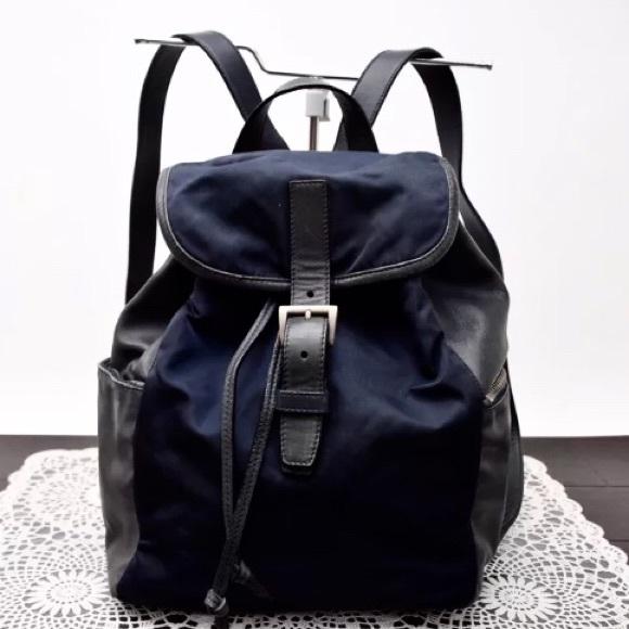 Prada Bags   100 Authentic Black Nylon Backpack   Poshmark 1c6d269e22